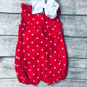 NWT BABY GIRL BABY GAP OUTFIT SIZE 3-6 MONTHS BOW-BACK BUBBLE SHORT SET